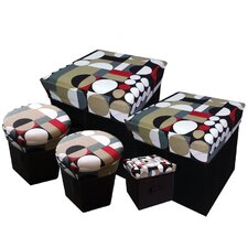 <strong>JaBox</strong> Collapsible Storage Box (Set of 5)