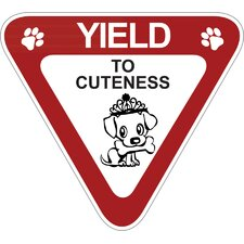 Yield to Cuteness Car Magnet