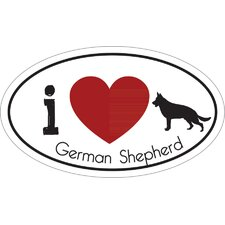 I Heart German Shepherd Car Magnet