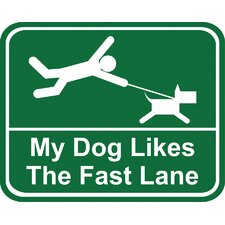 <strong>Little Gifts</strong> My Dog Likes the Fast Lane Car Magnet