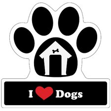 <strong>Little Gifts</strong> Dog Lover Paw Car Magnet