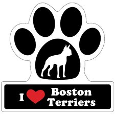 Boston Terrier Paw Car Magnet