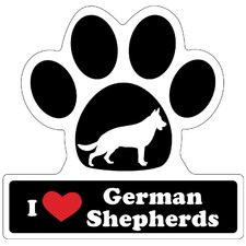 German Shepherd Paw Car Magnet