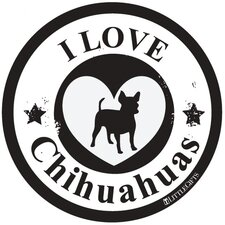 Chihuahua Circle Car Magnet