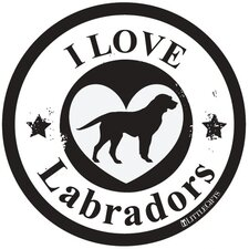 Labrador Circle Car Magnet