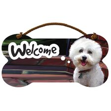 Bichon Frise Welcome Wall Sign