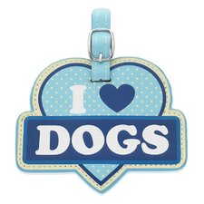 I Love Dogs Luggage Tag