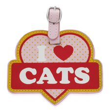 <strong>Little Gifts</strong> I Love Cats Luggage Tag
