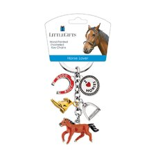 Horse Lover Running Horse Enamel Key Chain
