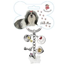 <strong>Little Gifts</strong> Shih Tzu Enamel Key Chain