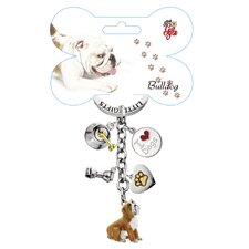 <strong>Little Gifts</strong> Bulldog Enamel Key Chain