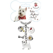 <strong>Little Gifts</strong> West Highland Terrier Enamel Key Chain
