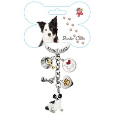 <strong>Little Gifts</strong> Border Collie Enamel Key Chain