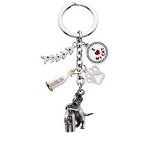 Kitten and Bottle V3 Key Chain