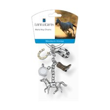 <strong>Little Gifts</strong> Western Running Horse V3 Key Chain