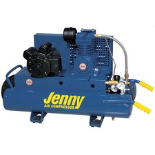 <strong>Jenny Products Inc</strong> 1 HP Electric 115/230 Volt Single Stage Wheeled Portable Air Compressor