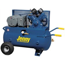<strong>Jenny Products Inc</strong> 30 Gallon 5 HP Electric Motor 230 Volt Two Stage Wheeled Portable Air Compressor
