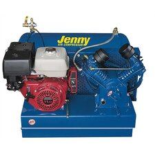 <strong>Jenny Products Inc</strong> 30 Gallon 11 Horse Power Gas Single Stage Skid Mount Special Portable Air Compressor