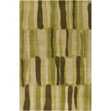 Cinzia Green Abstract Rug