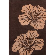 Cinzia Brown Big Floral Rug