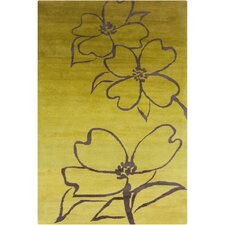 Cinzia Yellow / Brown Floral Area Rug