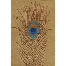 Cinzia Brown Peacock Feather Rug
