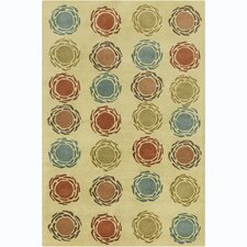 Cinzia Light Olive Green Geometric Rug