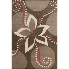 <strong>Filament  LLC</strong> Cinzia Dark Brown/Pink Floral Rug