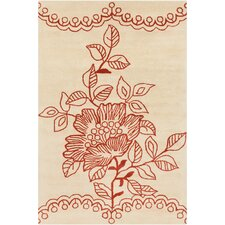 <strong>Filament  LLC</strong> Cinzia Cream Floral Rug