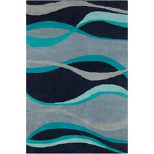 Cinzia Black Abstract Area Rug
