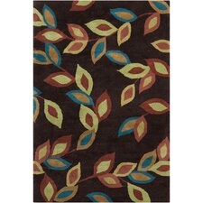 <strong>Filament  LLC</strong> Cinzia Dark Brown Floral Rug