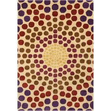 Cinzia Cream Geometric Circles Rug