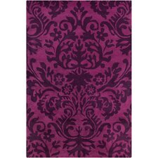 Cinzia Purple / Black Floral Area Rug