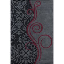 Cinzia Dark Grey Mix Abstract Rug