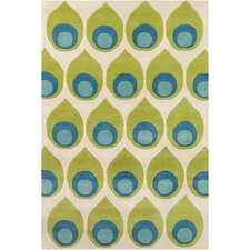 Cinzia Green / Blue Abstract Area Rug