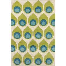 Cinzia Green Abstract Rug