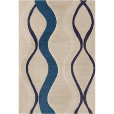 Cinzia Cream / Blue Area Rug
