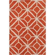 Cinzia Orange Geometric Rug