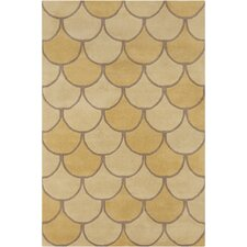 Cinzia Yellow/Gold Abstract Rug