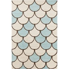 Cinzia Blue / Cream Abstract Area Rug
