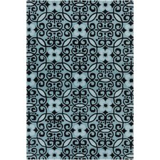 Cinzia Blue/Black Abstract Rug