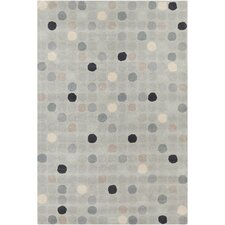 Cinzia Light Grey Geometric Area Rug