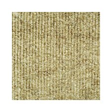 "Ribbed 18"" x 18"" Carpet Tile in Beige"
