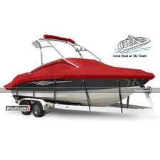 Deck Boat Cover with Low Rails