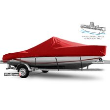V-Hull Center Console Fishing Boat Cover with High Bow Rails