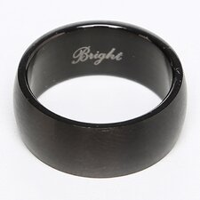 Men's Stainless Steel Dome Comfort Fit Brushed Ring