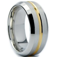 Men's Gold Cobalt Comfort Fit Wedding Band