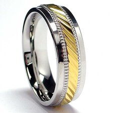 Men's 14K Gold Plated Stainless Steel Comfort Fit Ring