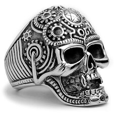 Men's Stainless Steel The Ultimate Casted Skull Biker Ring