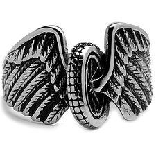 Men's Stainless Steel Casted Biker Ring